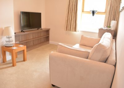 Greyhound Inn Room Sitting Area & Widescreen TV