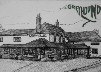 Old Sketch of The Greyhound