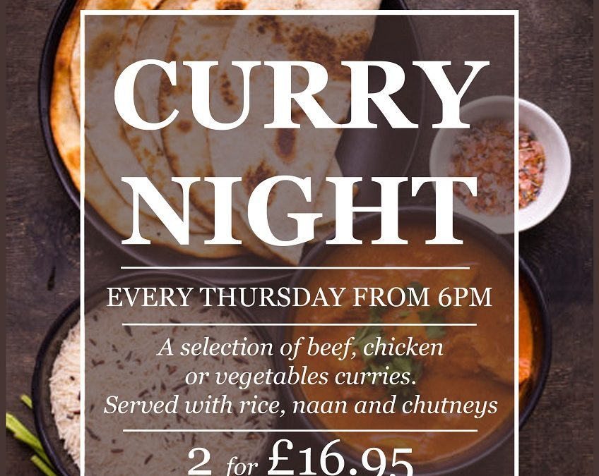 Curry Night – Thursdays