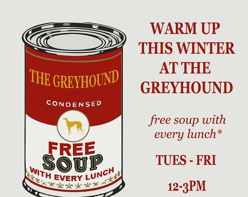 Free Soup With Every Lunch – Tuesday to Friday