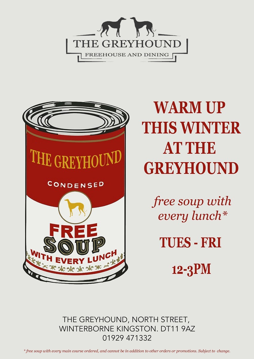 free soup with every lunch
